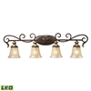 ELK lighting Regency 4 Light LED Vanity In Burnt Bronze And Gold Leaf