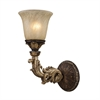 Regency 1 Light Wall Sconce In Burnt Bronze And Gold Leaf
