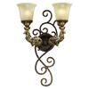 ELK lighting Regency 2 Light Wall Sconce In Burnt Bronze And Gold Leaf