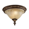 Regency 2 Light Flushmount In Burnt Bronze