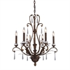 Emilion 6 Light Chandelier In Burnt Bronze