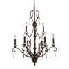 Emilion 9 Light Chandelier In Burnt Bronze