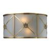 Preston 2 Light Wall Sconce In Brushed Brass