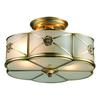 Preston 2 Light Semi Flush In Brushed Brass