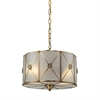 Preston 2 Light Pendant In Brushed Brass