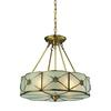 Preston 4 Light Pendant In Brushed Brass