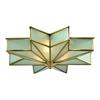 ELK lighting Decostar 3 Light Flushmount In Brushed Brass