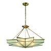 Decostar 8 Light Pendant In Brushed Brass