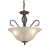 Cornerstone Santa Fe 3 Light Dual Mount In Oil Rubbed Bronze