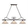 Santa Fe 3 Light Pendant In Oil Rubbed Bronze