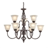 Santa Fe 6+3 Light Chandelier
