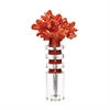 Lazy Susan Fire Coral And Crystal Stand