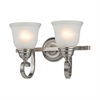 Cornerstone Hamilton 2 Light Bath Bar In Brushed Nickel