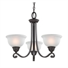 Cornerstone Hamilton 3 Light Chandelier In Oil Rubbed Bronze