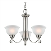 Hamilton 3 Light Chandelier In Brushed Nickel