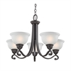 Hamilton 5 Light Chandeier In Oil Rubbed Bronze
