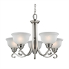 Cornerstone Hamilton 5 Light Chandeier In Brushed Nickel