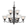 Hamilton 9 Light Chandelier In Oil Rubbed Bronze