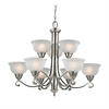 Cornerstone Hamilton 9 Light Chandelier In Brushed Nickel