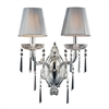 ELK lighting Princess 2 Light Wall Sconce In Polished Silver With Silk String Shades
