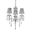 ELK lighting Princess 3 Light Chandelier In Polished Silver With Silk String Shades