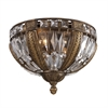 Millwood 4 Light Flushmount In Antique Bronze