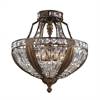 Millwood 6 Light Semi Flush In Antique Bronze