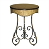 Sterling Round Curled Leaf Table