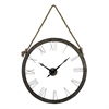 Sterling Metal Wall Clock Hung On Rope