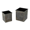 Set Of 2 Industrial Planters