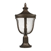 ELK lighting Worthington 1 Light Outdoor Post Lamp In Hazlenut Bronze