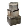 Lazy Susan Nested Faux Pony Boxes- Set Of 3