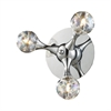 Molecular 3 Light Wall Sconce In Chrome And Iridescent Glass