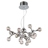 Molecular 15 Light Chandelier In Chrome And Iridescent Glass