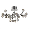 ELK lighting Molecular 18 Light Semi Flush In Chrome And Iridescent Glass
