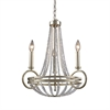 New York 3 Light Chandelier In Renaissance Silver Leaf