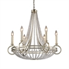 New York 6 Light Chandelier In Renaissance Silver Leaf