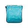 Pomeroy Inca Square Votive In Aroma Shiny Blue, Aroma Shiny Blue