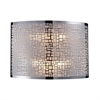 Medina 2 Light Wall Sconce In Polished Stainless Steel