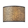 ELK lighting Medina 2 Light Vanity In Aged Bronze With Amber Diffuser