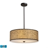 Medina 5 Light LED Pendant In Aged Bronze