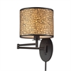 ELK lighting Medina 1 Light Swingarm In Aged Bronze