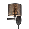 ELK lighting Woodland Sunrise 1 Light Swingarm In Aged Bronze