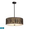 Woodland Sunrise 5 Light LED Pendant In Aged Bronze