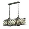 ELK lighting Armand 6 Light Island In Weathered Bronze