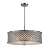 ELK lighting Genevieve 6 Light Pendant In Polished Chrome