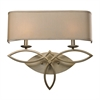 Estonia 2 Light Sconce In Aged Silver With Beige Shade
