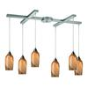 Sandstone 6 Light Pendant In Satin Nickel