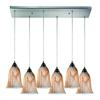 Granite 6 Light Pendant In Satin Nickel