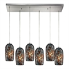 ELK lighting Collage 6 Light Pendant In Satin Nickel